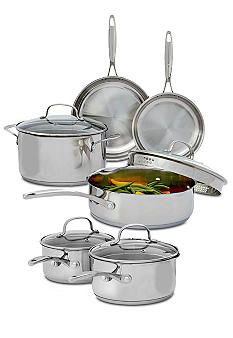 Biltmore For Your Home Gourmet Stainless Steel 10-piece Cookware Set