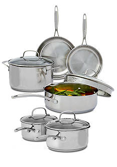 Biltmore Gourmet Stainless Steel 10-Piece Cookware Set