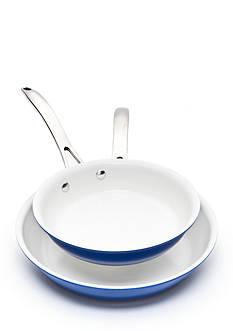 Biltmore Gourmet Color Aluminum Ceramic Interior 2-piece Fry Pans