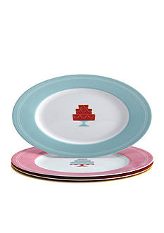 Cake Boss™ 4-Piece Porcelain Dessert Plate Set