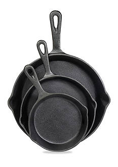 Cooks Tools™ Cast Iron 3-Piece Fry Pan Set