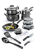 Cooks Tools™ 19-Piece Carbon Steel Cookware Set - Black