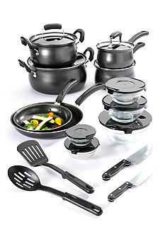 Cooks Tools 19-Piece Carbon Steel Cookware Set - Black