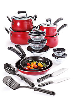 Cooks Tools 19-Piece Carbon Steel Cookware Set - Red