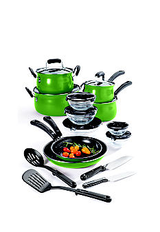 Cooks Tools 19-piece Carbon Steel Cookware Set - Green