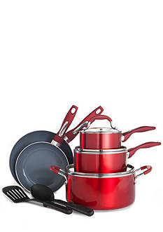 Cooks Tools™ 10-Piece Ceramic Nonstick Cookware Set