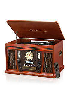 Innovative Technology Victrola Bluetooth Music CenterThe Aviator 7-in-1 Bluetooth Wooden Music Center