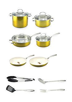 14-Piece Cookware Set Gold