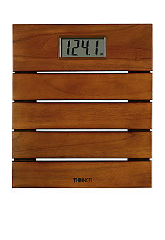 Conair Thinner Solid Teak Digital Scale #TH326 - Online Only