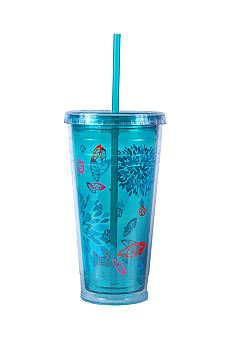 Cool Gear Green Floral Chiller 24-oz. Tumbler - Online Only