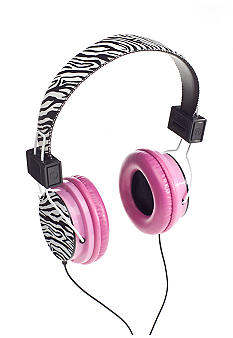 Vivitar iNeeda Headphones Zebra with Pink