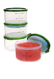 Fit & Fresh Starts Smart Portions 1-Cup Chilled Containers 4 Piece Set - Online Only