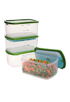 Fit & Fresh Smart Portions 2-Cup Chilled Containers 4 Piece Set - Online Only