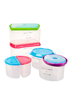 Fit & Fresh Healthy Living 14-Piece Container Kit with Reusable Ice Packs