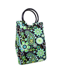 Retro Green Paisley Lunch Bag