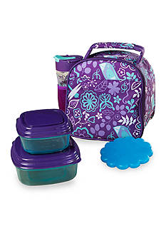 Fit & Fresh Lillie Insulated Lunch Bag Kit with Water Bottle and Reusable Container Set