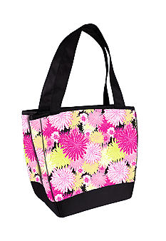 Fit & Fresh Hyannis Pink/Yellow Lunch Bag with Lunch on the Go Kit