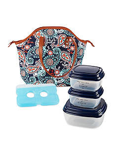 Fit & Fresh Davenport Insulated Lunch Bag Kit with Portion Control Container Set