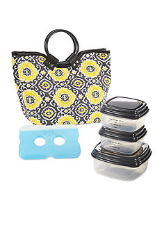 Fit & Fresh Scottsdale Insulated Lunch Bag Kit with Portion Control Container Set