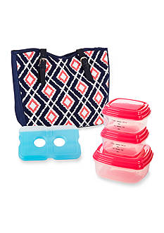 Fit & Fresh Boston Insulated Lunch Bag Kit with Portion Control Container Set