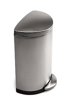 Simplehuman 40 Liter Semi-Round Step Trash Can - Brushed Stainless