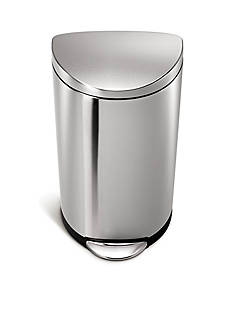 simplehuman 30-L Semi-Round Step Trash Can In Fingerprint-Proof Brushed Stainless Steel - Online Only