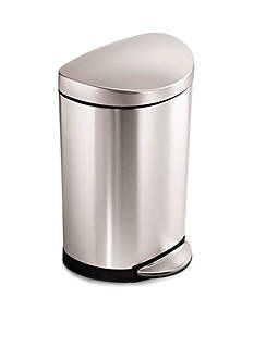 simplehuman 10 Liter Semi-Round Step Trash Can