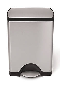 simplehuman 30 Liter Rectangular Step Trash Can - Brushed Stainless