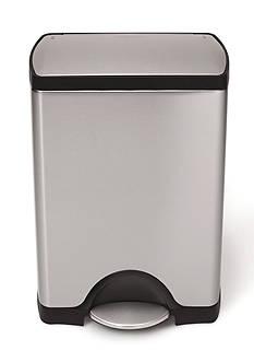 simplehuman 30 Liter Rectangular Step Trash Can - Brushed Stainless