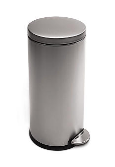 Simplehuman 35 Liter Round Step Trash Can - Brushed Stainless