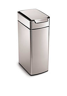 simplehuman 40 Liter Slim Touch Bar Trash Can - Brushed Stainless