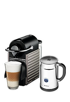 Nespresso® Pixie Espresso Machine and Aeroccino Plus Milk Frother Bundle - Electric Titan AC60USTINE