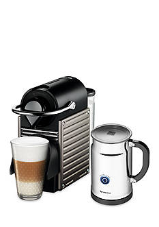 Nespresso Pixie Espresso Machine and Aeroccino Plus Milk Frother Bundle - Electric Titan AC60USTINE