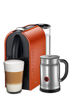 Nespresso U Orange Espresso Machine and Aeroccino Plus Milk Frother Bundle