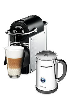 Nespresso Pixie Espresso Machine and Aeroccino Plus Milk Frother Bundle - Aluminum AD60USALNE