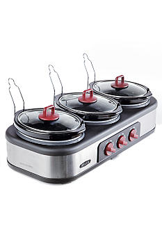 Bella Triple Slow Cooker 1.5 Quart 13557