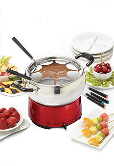Bella Red Fondue Pot 13696