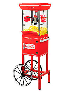 Nostalgia Electrics Coca-Cola Old Fashioned Movie Time Popcorn Cart - CCP399COKE