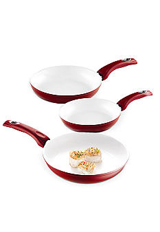 Bialetti Aeternum 3pc Red Saute Pan Set<br>