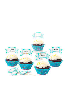 Sweet Creations by Good Cook 24-count Blue Dots Cupcake Papers & Toppers