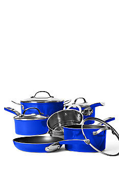 Cat Cora 10 Piece Non-stick Set - Blue