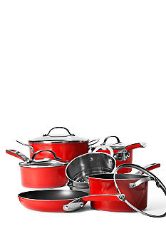 Cat Cora 10 Piece Non-Stick Set - Red