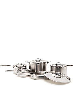 Cat Cora Tri-Ply Stainless Steel 10-piece Set - Online Only
