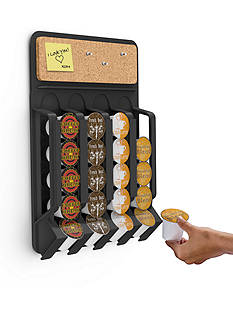MindReader Fridge/Wall Mount Coffee Pod Dispenser Black - Online Only
