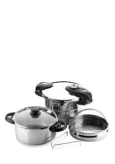 Fagor 6-Piece Futuro Pressure Cooker Set