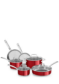 KitchenAid 10-Piece Stainless Steel Cookware Set KC2SS10PC