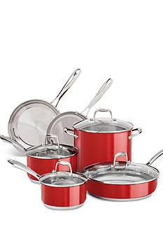 KitchenAid® Empire Red Stainless Steel 10-Piece Cookware Set