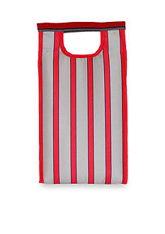 Blue Avocado Red Stripe Tower Bag