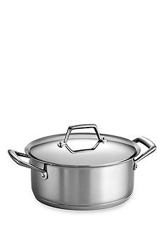 Tramontina Gourmet Prima 5-qt. Stainless Steel Tri-Ply Base Covered Dutch Oven - Online Only