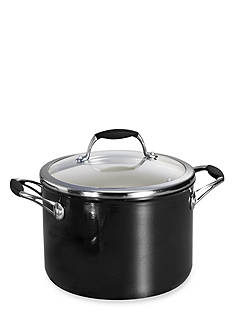 Tramontina Gourmet 6-qt. Metallic Black Ceramica 01 Deluxe Covered Sauce Pot - Online Only